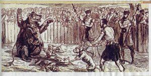 Historia del perro pitbull, peleas antiguas