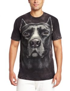 la montana de los hombres pitbull head playera, color negro, talla mediano